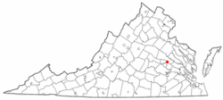 Location within Virginia
