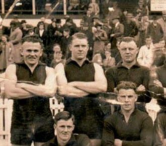 Bob Pratt - Bob Pratt (back row, right) while at Coburg in 1941
