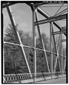 VIEW TO EAST. INTERMEDIATE VERTICALS AND DIAGONALS. - CTH D Bridge, Spanning Eau Galle River, Eau Galle, Dunn County, WI HAER WIS,17-EAGA.V,1-7.tif