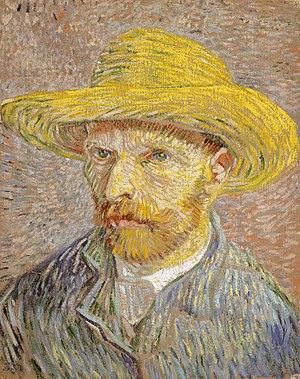 ''Self-Portrait with Straw Hat'', Paris, Winter 1887/88, Metropolitan Museum of Art
