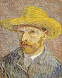Vincent van Gogh, Selbstporträt aus dem Winter 1887/88