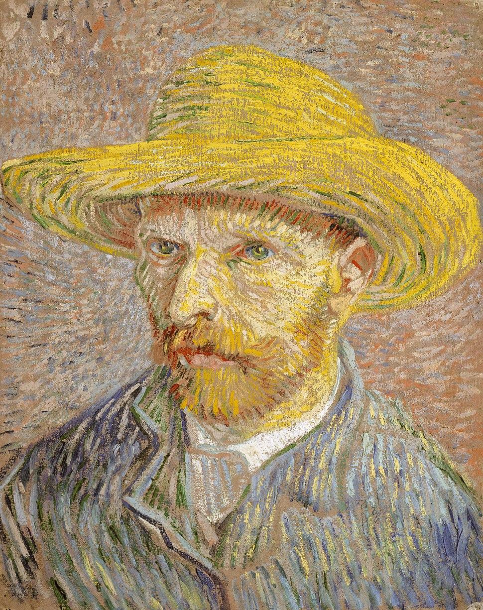 Van Gogh Self-Portrait with Straw Hat 1887-Metropolitan