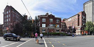 Burrard Street - Burrard Street entrance to St. Paul's Hospital