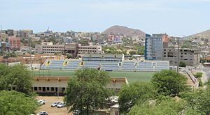 Football in Cape Verde - Estádio da Várzea in Praia on the island of Santiago