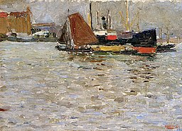 Vassily Kandinsky, Słońce Rotterdamu, 1906