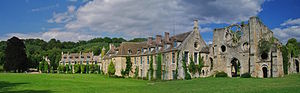 Charlotte de Rothschild -  Abbaye des Vaux de Cernay in Cernay-la-Ville in the Vallée de Chevreuse bought by Baroness Charlotte de Rothschild