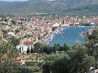 Vela Luka (Croatia) view from mountains.jpg