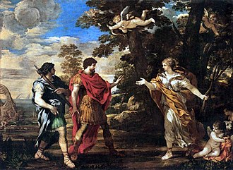Aeneas - Venus as Huntress Appears to Aeneas, by Pietro da Cortona