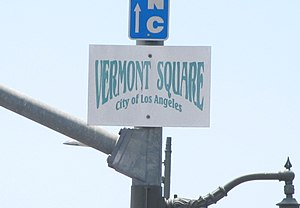 Vermont Square, Los Angeles - Vermont Square signage at Vermont Avenue and Martin Luther King Boulevard