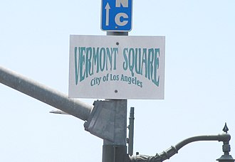 Vermont Square, Los Angeles - Vermont Square neighborhood signage at Vermont Avenue and Martin Luther King Boulevard