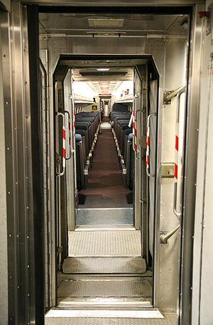 Amtrak train vestibule