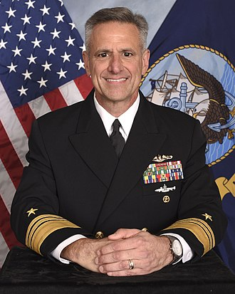 Chief of Naval Personnel - Image: Vice Adm. Robert P. Burke