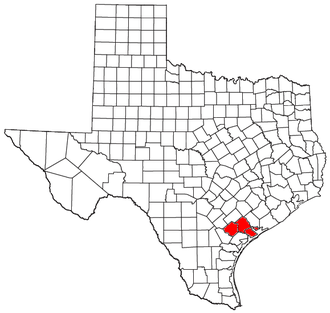 Victoria, Texas metropolitan area - Location of the Victoria Metropolitan Statistical Area in Texas