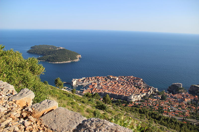 Dubrovnik with the Island of Lokrum. From Highlights of a Dubrovnik Trip