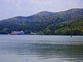 View of boat restaurant on the lake Mladost , Veles.JPG