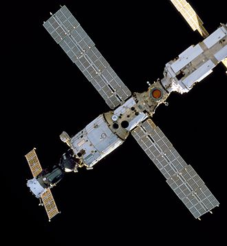 Zvezda (ISS module) - Image: View of the bottom of Zvezda