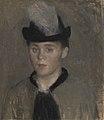 Vilhelm Hammershøi - Ida Ilsted, the Artist's Fiancée. Sketch - KMS3162 - Statens Museum for Kunst.jpg