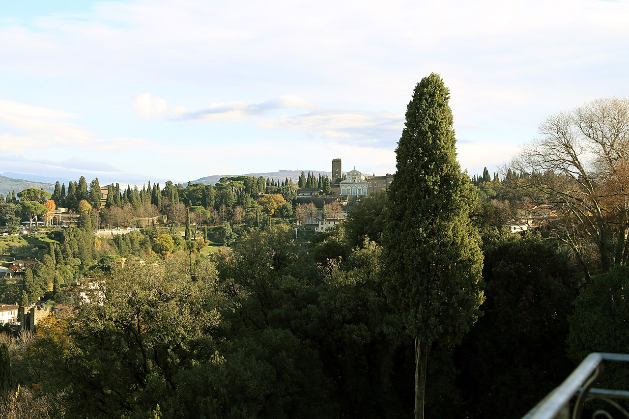 Firenze, Villa Bardini, terrazza con vista su San Miniato al Monte