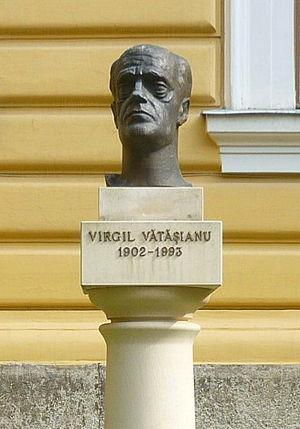 Virgil Vătășianu - Vatasianu's bust in the Babeș-Bolyai University