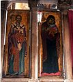 Visoki Dečani, icons of St. Nicholas and Madonna and Child.jpg