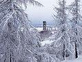 Vista del campanile dal castello di Fagagna con la neve.jpg
