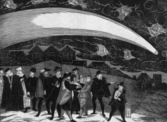 Great comet - The Great Comet of 1577, depicted in a woodcut, over Prague