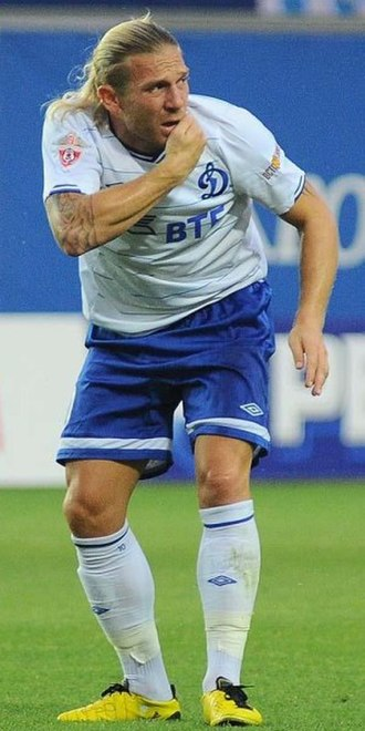 Andriy Voronin - Voronin in action for Dynamo Moscow in July 2010