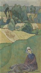 Woman Sitting in a Field: Brittany