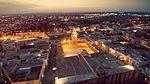 Vue aérienne nocturne de la Grande Mosquée de Kairouan.jpg