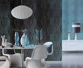 Wallpaper material used to cover and decorate interior walls