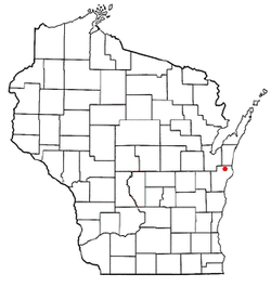 Location of Gibson, Wisconsin