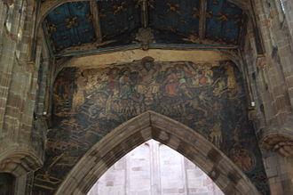 Holy Trinity Church, Coventry - Doom painting in Holy Trinity Church
