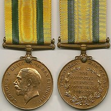 Photo of the Territorial War Medal