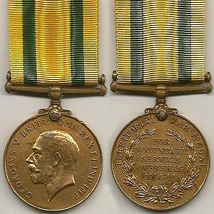 Territorial War Medal - Image: WW1 Territorial War Medal