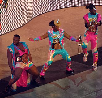 The New Day (professional wrestling) - The New Day appearing on the Raw after WrestleMania 32