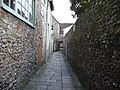 Walkway between Chichester Cathedral and Vicar's Close, Chichester.JPG