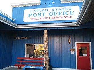 Wall, South Dakota - U.S. Post office in Wall, South Dakota