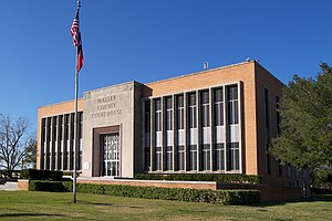 The Waller County Courthouse located at 29.581...