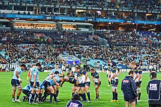 New South Wales Waratahs - Waratahs playing Brumbies in the 2012 Super Rugby