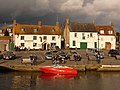 Wareham, bright red boat on the quay - geograph.org.uk - 1719020.jpg