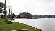 Center Lake Park, on the shore of Center Lake.