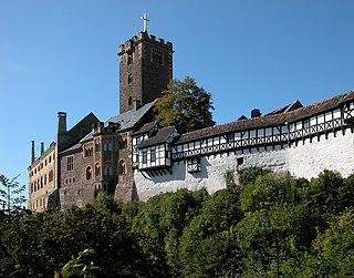 Wartburg castle in Eisenach, Germany