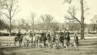 Hambleton Hall - The Warwickshire Hunt in which Walter was a participant, 1896