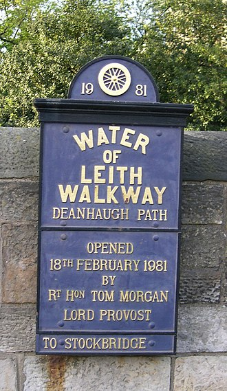 Water of Leith Walkway - One of many signposts
