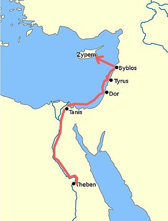 Story of Wenamun - The described route of Wenamun