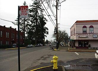 West Salem, Salem, Oregon - Old commercial district on Edgewater Street