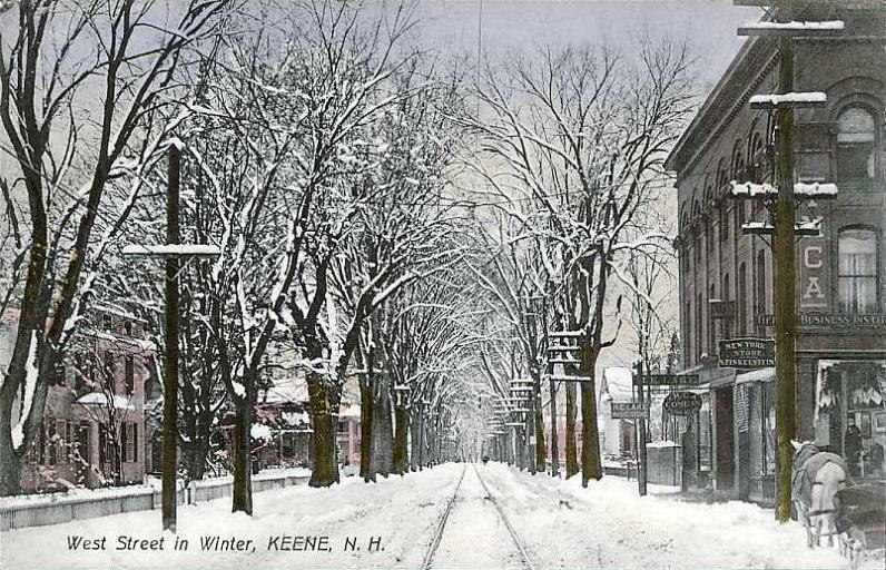 West Street in Winter, Keene, NH