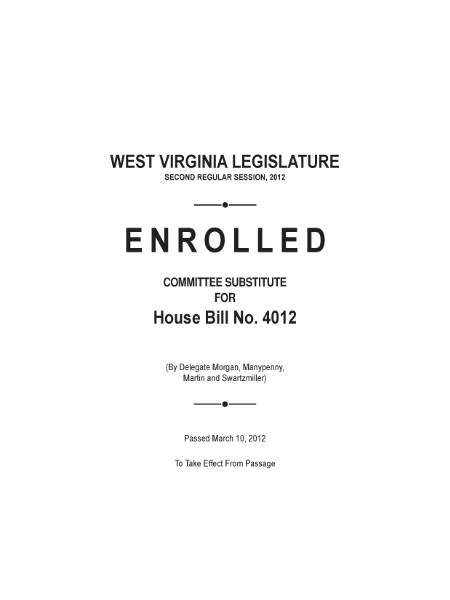 File:West Virginia House Bill 4012.djvu