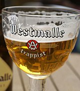 Westmalle Tripel in a glass.jpg