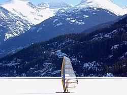 Whistler ice sailor